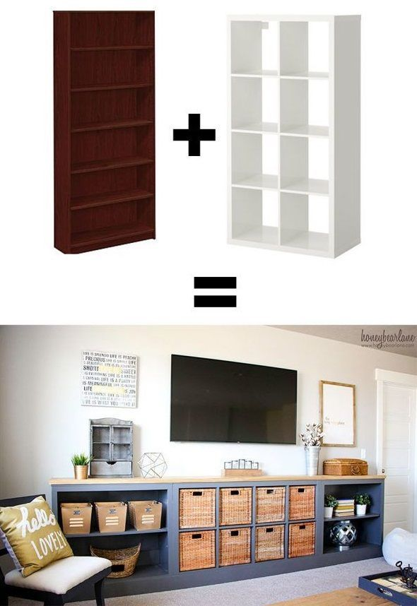 10 Ikea Hacks That Are Superb And Easy - TV Stand Storage Idea - DIY Home Decor Projects