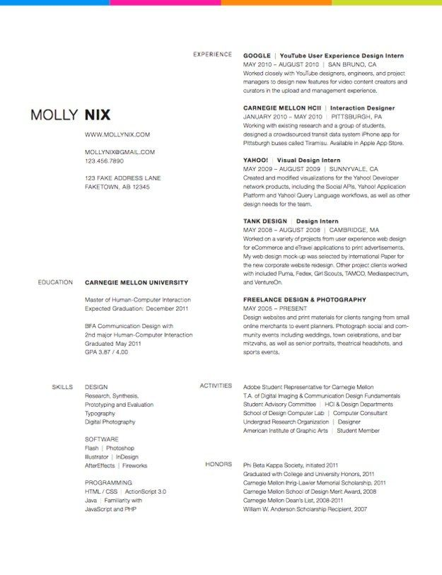 99 best Resumes images on Pinterest