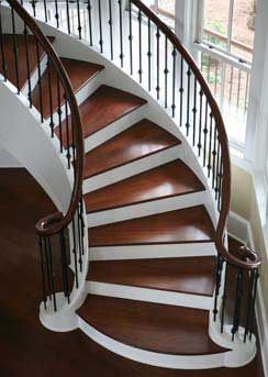 stair treads: Spirals Staircases, Floors, Stairs Treads, Replacements Carpets, Unfinished Wood, Pretty Stairs, Beautiful Stairs, Carpets Stairs, Wood Stairs