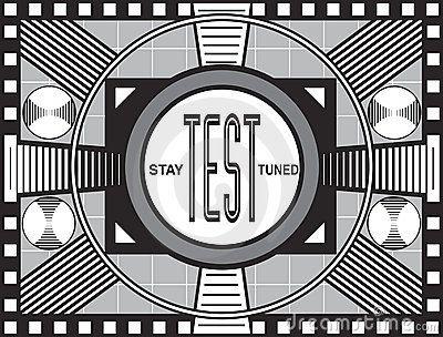 Retro TV Test Pattern by James Steidl, via Dreamstime