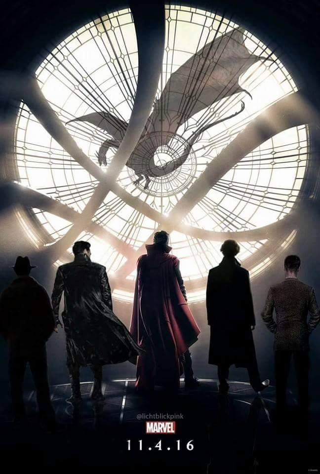 Cumberbatch Mash Up! Dr. Strange, Sherlock, Khan, Smaug, and I don't recognize the other two. <<< far right is Alan Turing from The Imitation Game...the first?
