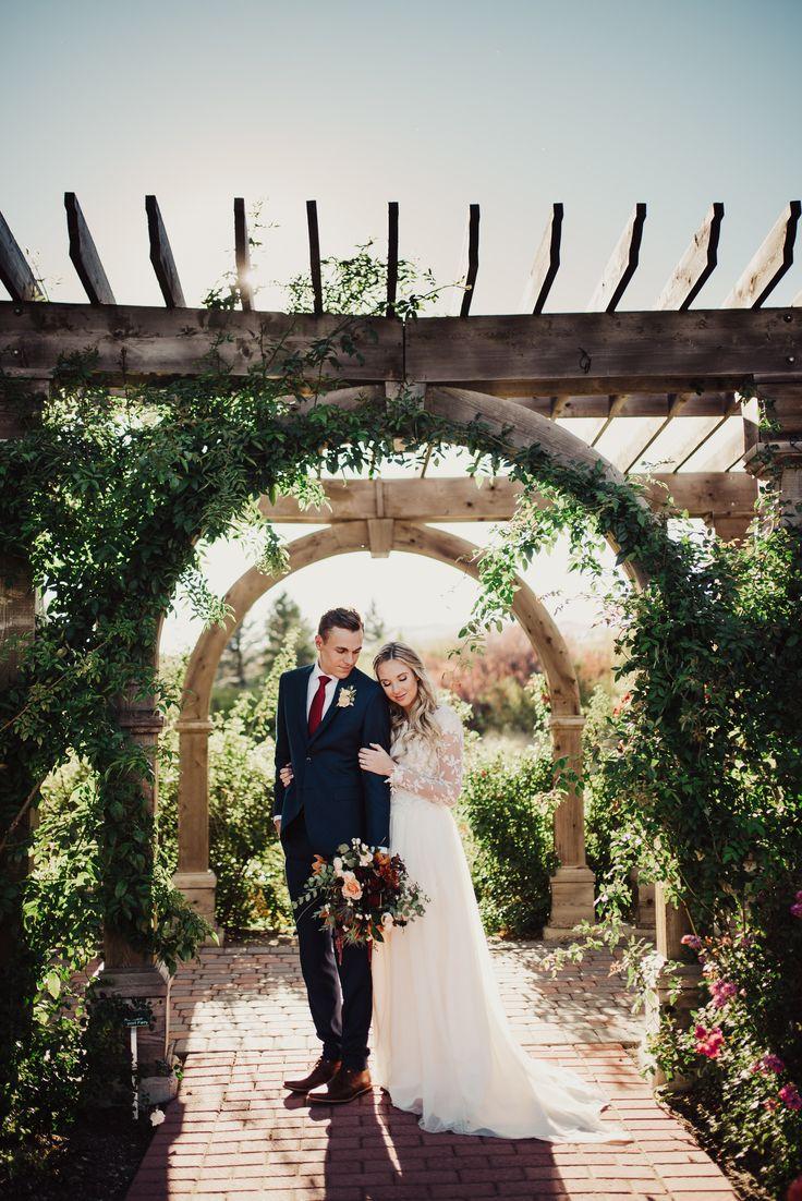 The dress garden utah - Camille And Armando Provo City Center Wedding