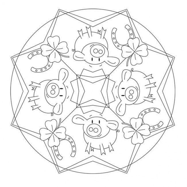 Glucksbringer Mandala Basteln Silvester Glucksbringer Basteln Silvester Basteln Neujahr