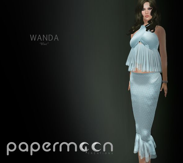 PaperMoon- WANDA Skirt& Top - Blue