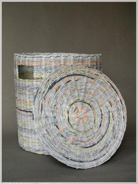 Paper wicker - laundry basket