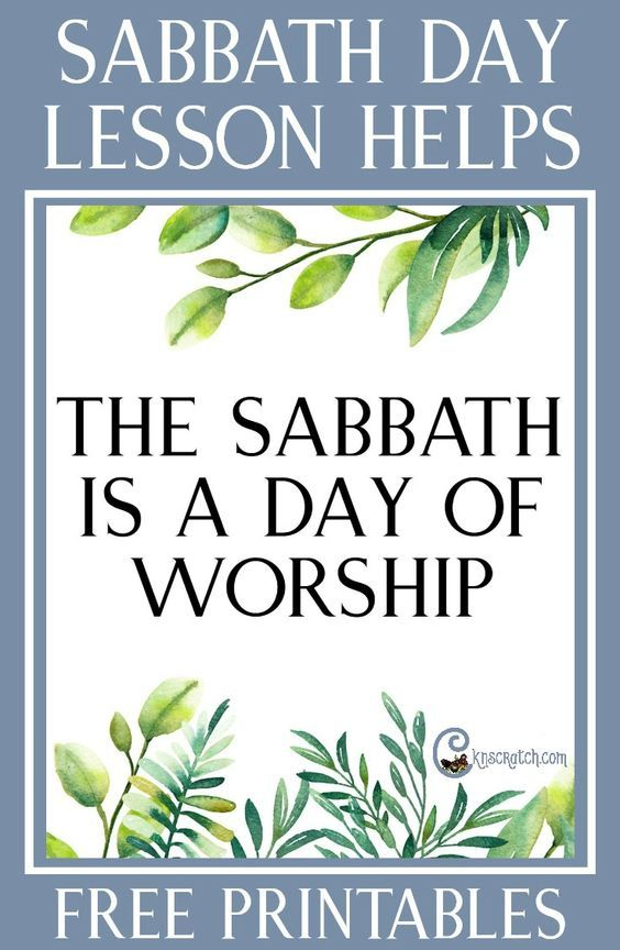 """So glad I found this site! Lesson helps and free handouts for teaching """"The Sabbath Is a Day of Worship"""" #LDS"""