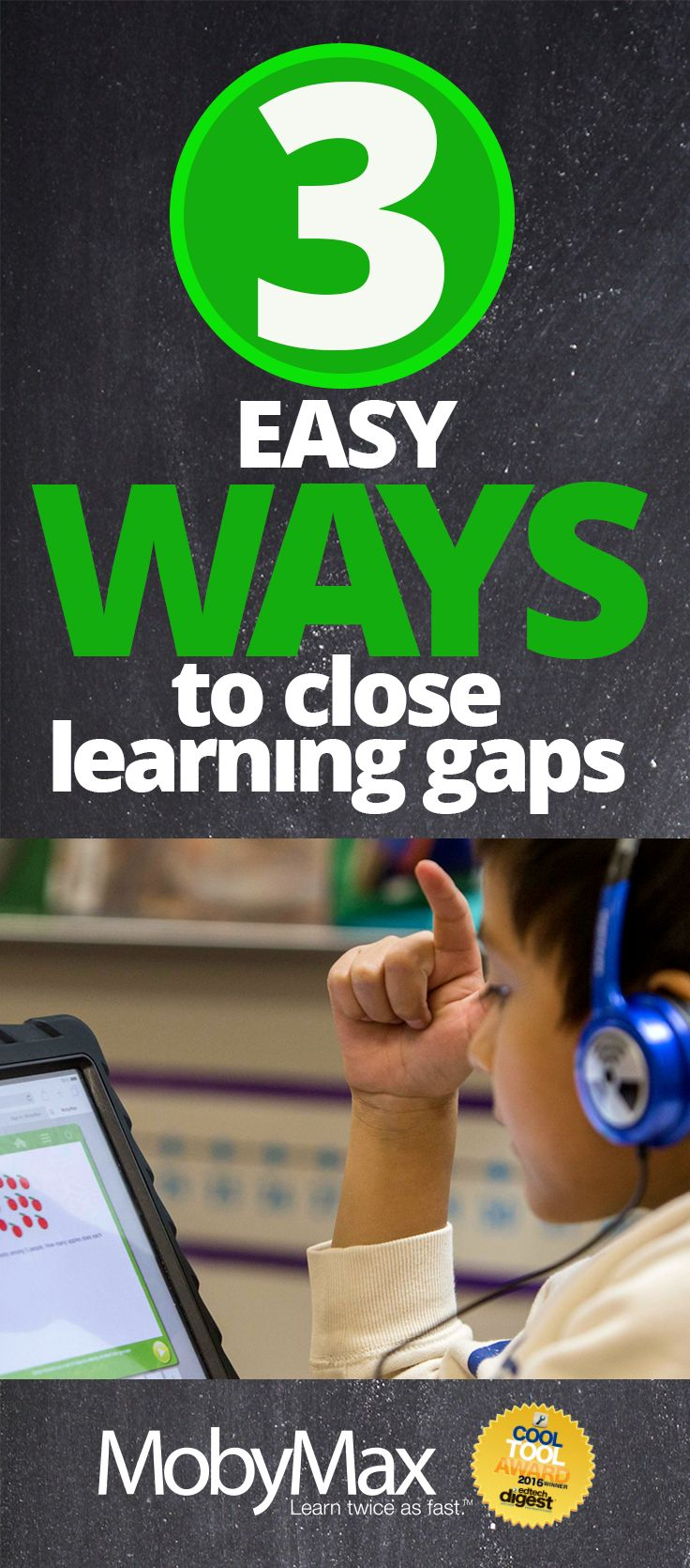 """The """"learning gap"""" may be one of the biggest hurdles you face when you first walk into your classroom. How do you effectively close the learning gap for each student while making sure the whole class continues to progress through the curriculum? MobyMax is a FUN and FREE tool that finds and fixes learning gaps with the power of personalized learning in all K-8 subjects including math, reading, language, writing, science, social studies, and more. MobyMax is specifically designed for…"""