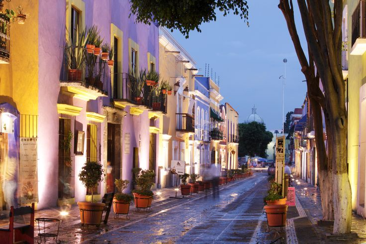 Callejon de los Sapos at Twilight, Puebla, Mexico courtesy of Brian Overcast Photography