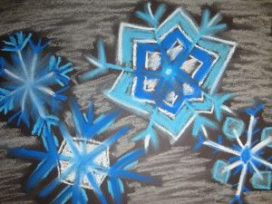 chalk pastel snowflake from arts for life
