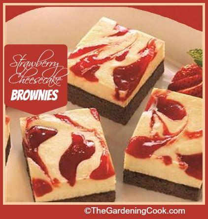Strawberry Cheesecake Fudge Brownies.