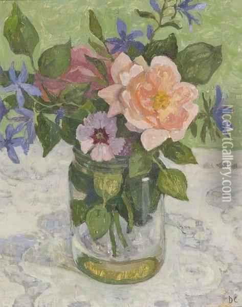 Flowers In A Glass Jar Oil Painting, Dora Carrington Oil Paintings - NiceArtGallery.com