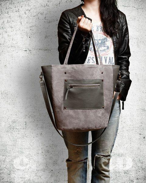 Bucket Bag - Szara w cocoono na DaWanda.com