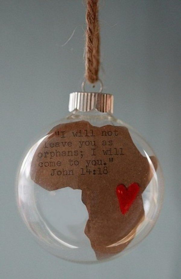 Africa Map Glass Ball - This ornament is for a mission trip fundraiser idea, and you can put it on a tree at the church. Fun and Creative Fundraising Ideas, http://hative.com/fun-creative-fundraising-ideas/,