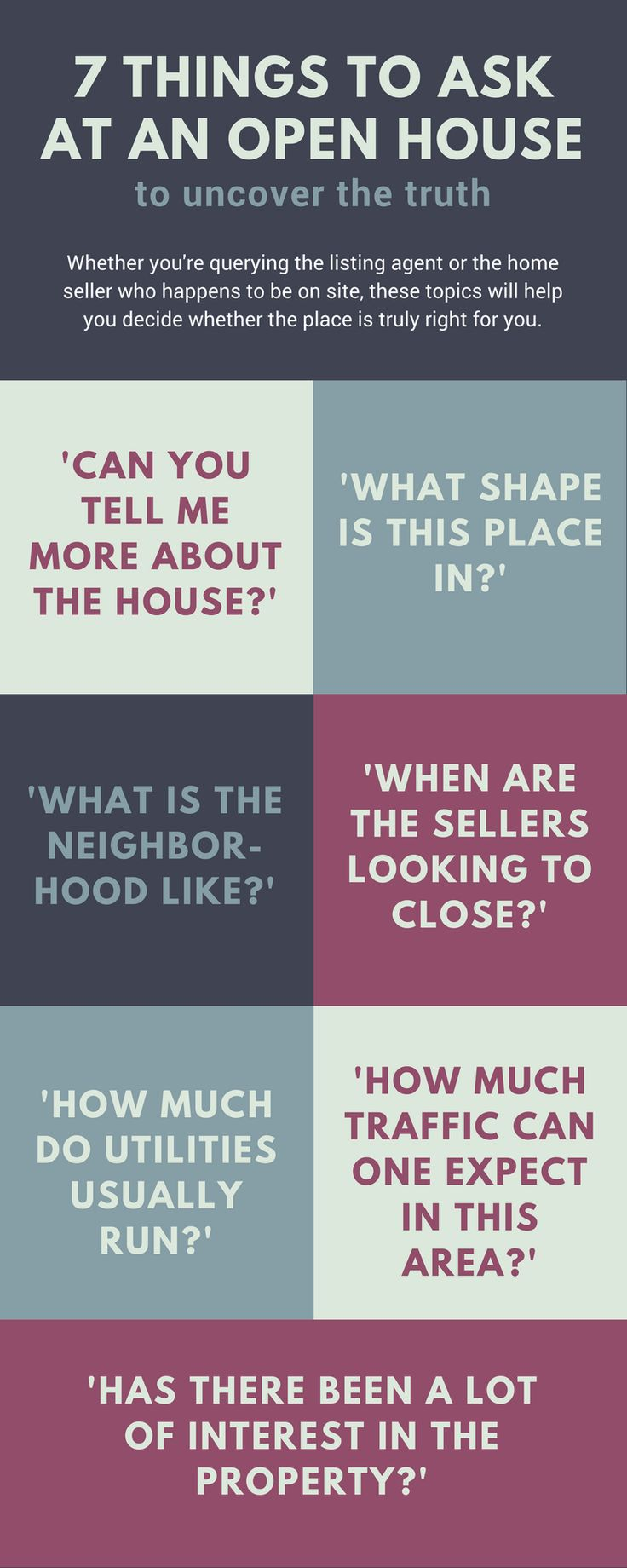 Looking to buy a house? If you are on a home hunt, make sure you cover your bases with these questions to ask at every open house.