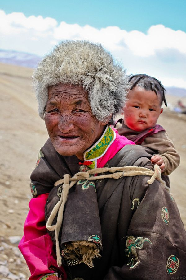 Faces of Tibet - Old and Young • two looks in color by Ruslan Bogdan-Blackitny #world #cultures