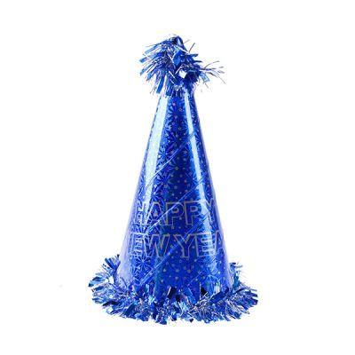 - Happy New Year Mavi Yılbaşı Şapkası
