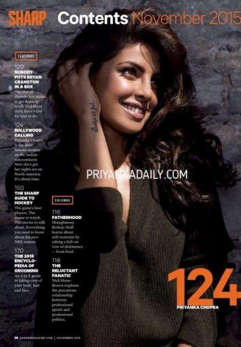 Priyanka Chopra #photoshoot for Sharp Magazine, November 2015 issue.