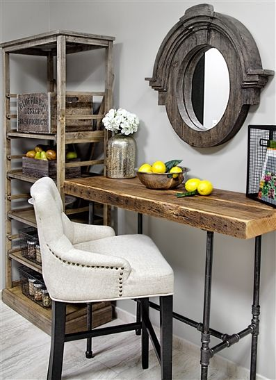 Industrial Console Table | reclaimed wood furniture |modern sofa table