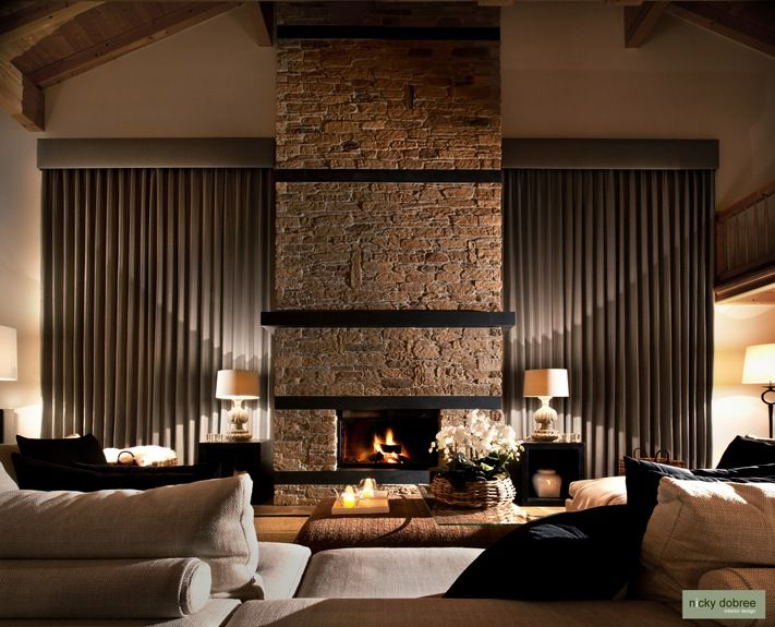 A winter chalet in klosters switzerland by nicky dobree for Residential living room interior design