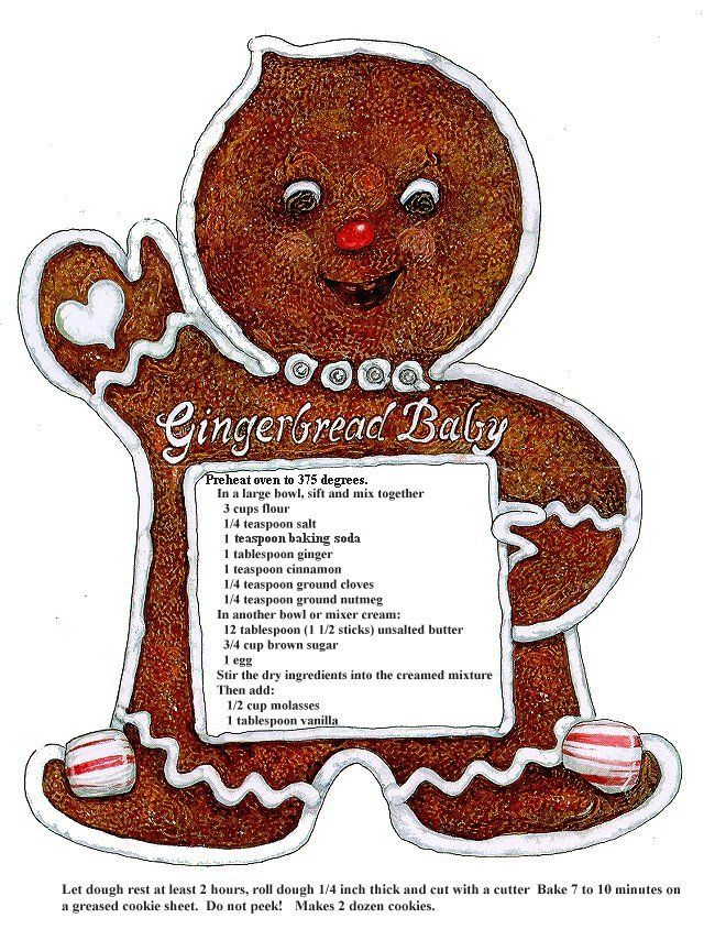 finally found the perfect gingerbread cookie recipe!  This is from a children's book!  Gingerbread baby! Reminds me of Christmas in Kentucky with my dad.