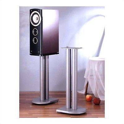 Speaker Mounts and Stands: Vti Uf Series Speaker Stands Pair In Grey Silver-24 Height BUY IT NOW ONLY: $114.85