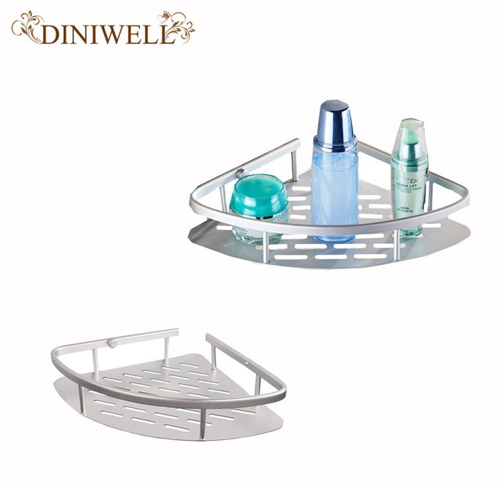 DINIWELL Suction Bathroom Corner Shelf With Removable Wall Mount Aluminium Alloy Storage Holder for Shampoo
