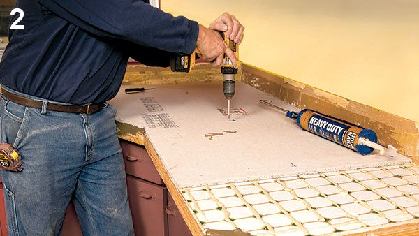 Countertop Underlayment : countertops tile forward tiling over an old countertop saves time and ...