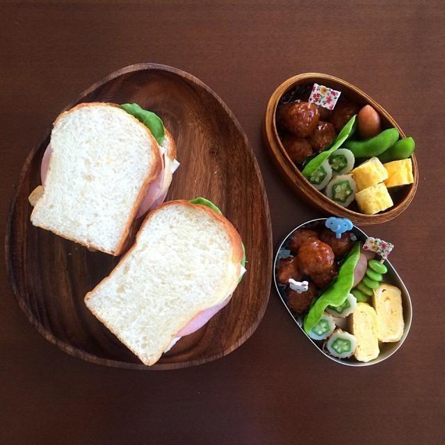 自家製パンでハムチーズサンド。 - 32件のもぐもぐ - サンドイッチのお弁当 by sakiko