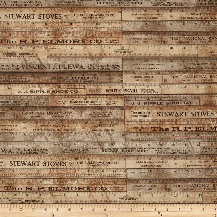 Tim Holtz Eclectic Elements Rulers Brown | fabric Fat Quarter by SUPERPOWERGARAGESALE on Etsy