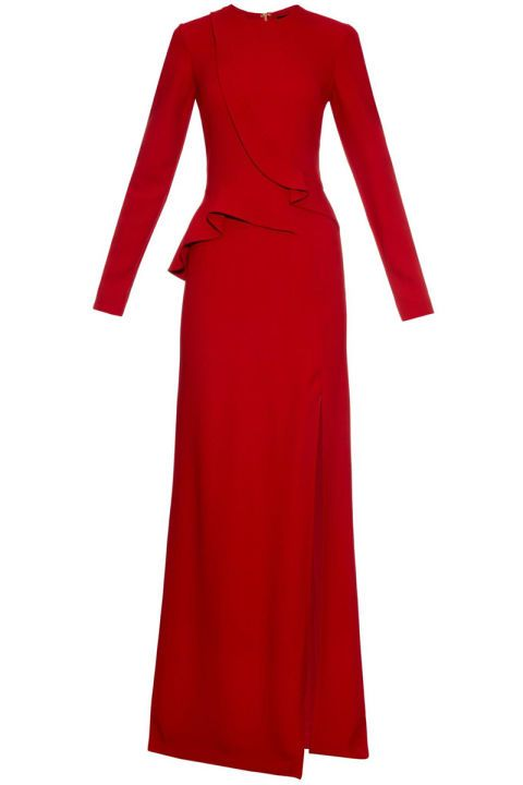 The Black Tie Red Gown - Elie Saab dress, $2,850, matchesfashion.com. Get on your wedding A-game with more perfect dresses from #TheLIST here.