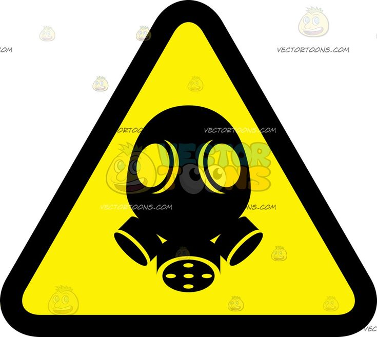 Gas mask warning sign vector illustrations mask images