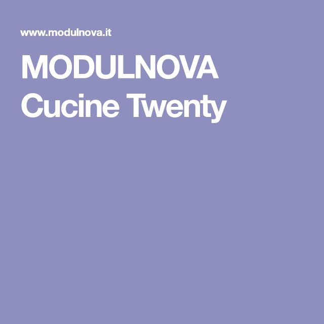 MODULNOVA Cucine Twenty