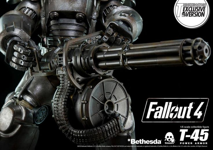 The 1/6th scale Fallout 4 T-45 Power Armor Collectible Figure is made by Threezero