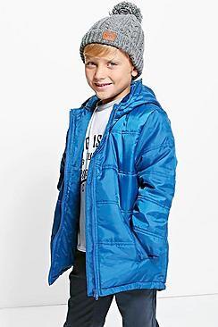 Boys Padded Hooded Winter Coat