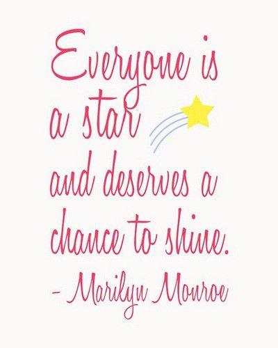 How true: Inspiration, Marilyn Monroe Quotes, Stars, Marilynmonroe, So True, Shine, Chance
