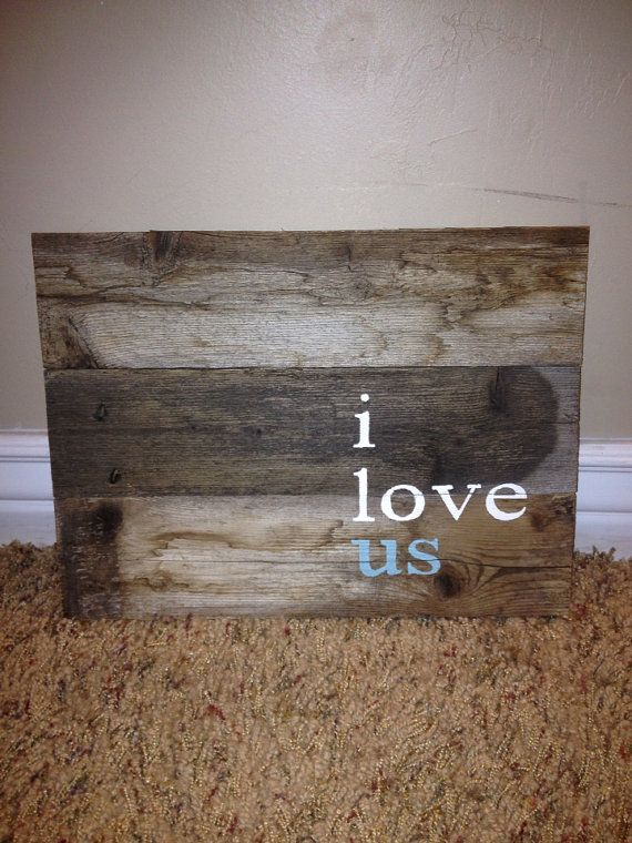 Reclaimed Barn Wood : Reclaimed wood/barn wood wall decoration sign by perfectpallet