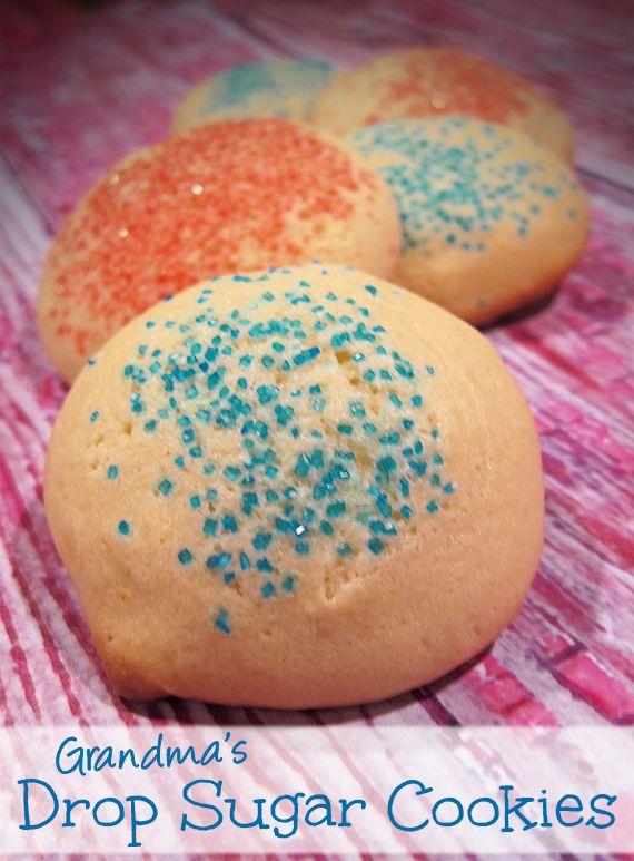 Grandma's Drop Sugar Cookies