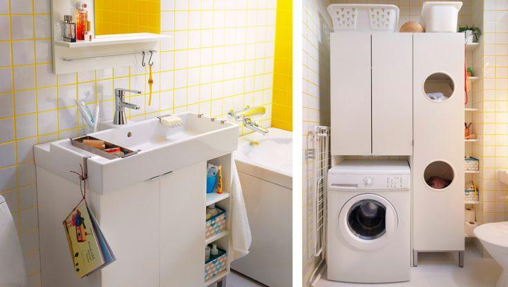 Ein IKEA Badezimmer für die Wäsche und dich, u. a. mit LILLÅNGEN Waschkommode mit 2 Türen + 2 Abschlussregalen, LILLÅNGEN Wäscheschrank, LIL...