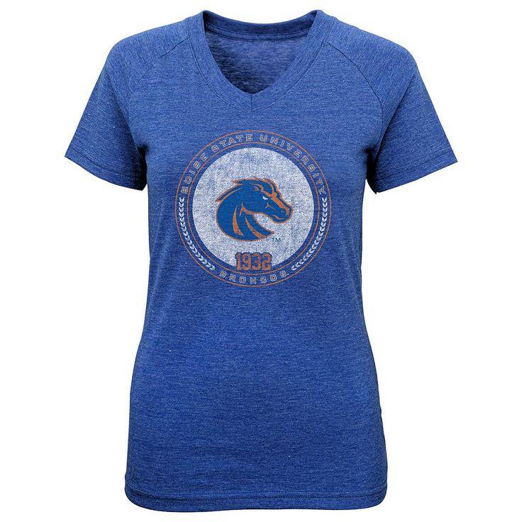 Girls 7-16 Boise State Broncos Team Medallion Tee, Size: M(10-12), Blue