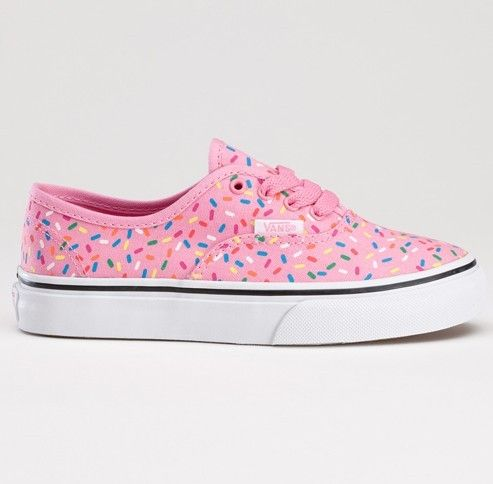 14dc08d59a65 Vans ❤ I would love to wear these everyday! Who could say no to  donut-themed Vans