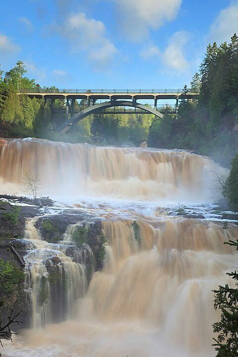 Gooseberry Falls State Park on the North Shore. One of my all time favorite camping places.