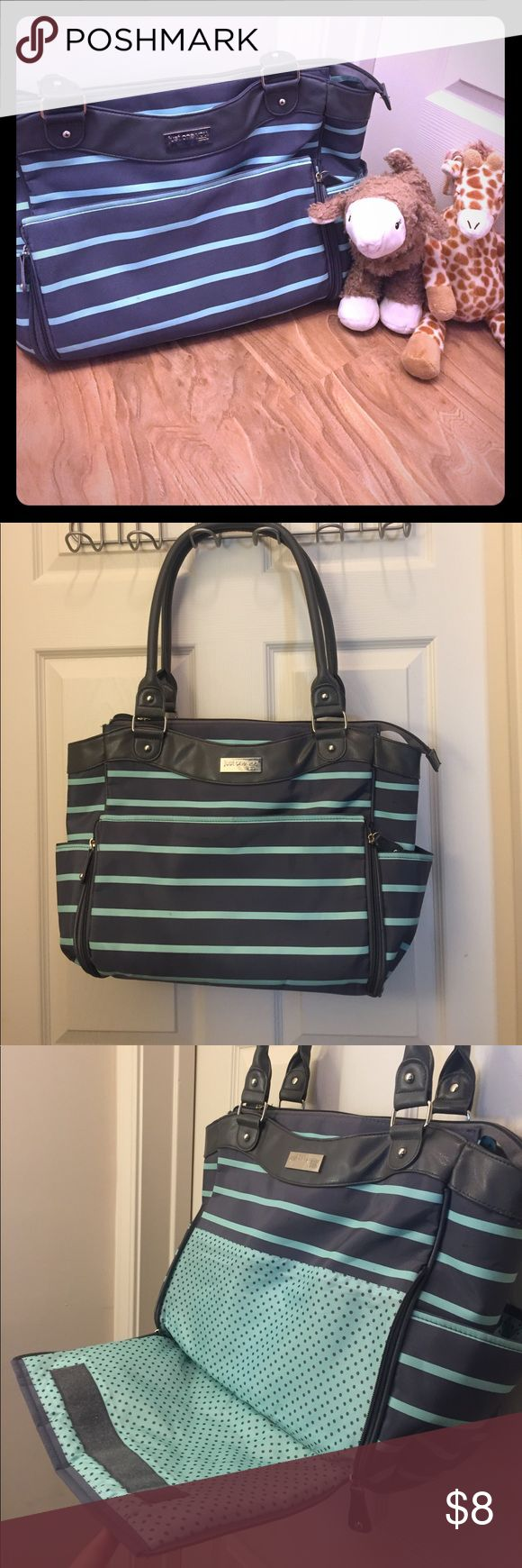 Carters Baby Diaper Bag In good condition. There's a pocket that unzips that used to have this mat that you can change a baby's diaper on, but that's missing. I would assume you can easily buy a replacement mat online. Lots of pockets to put things in. Carter's Other