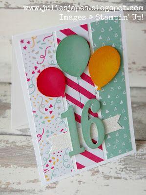 Julie Kettlewell - Stampin Up UK Independent Demonstrator - Order products 24/7: Sweet 16