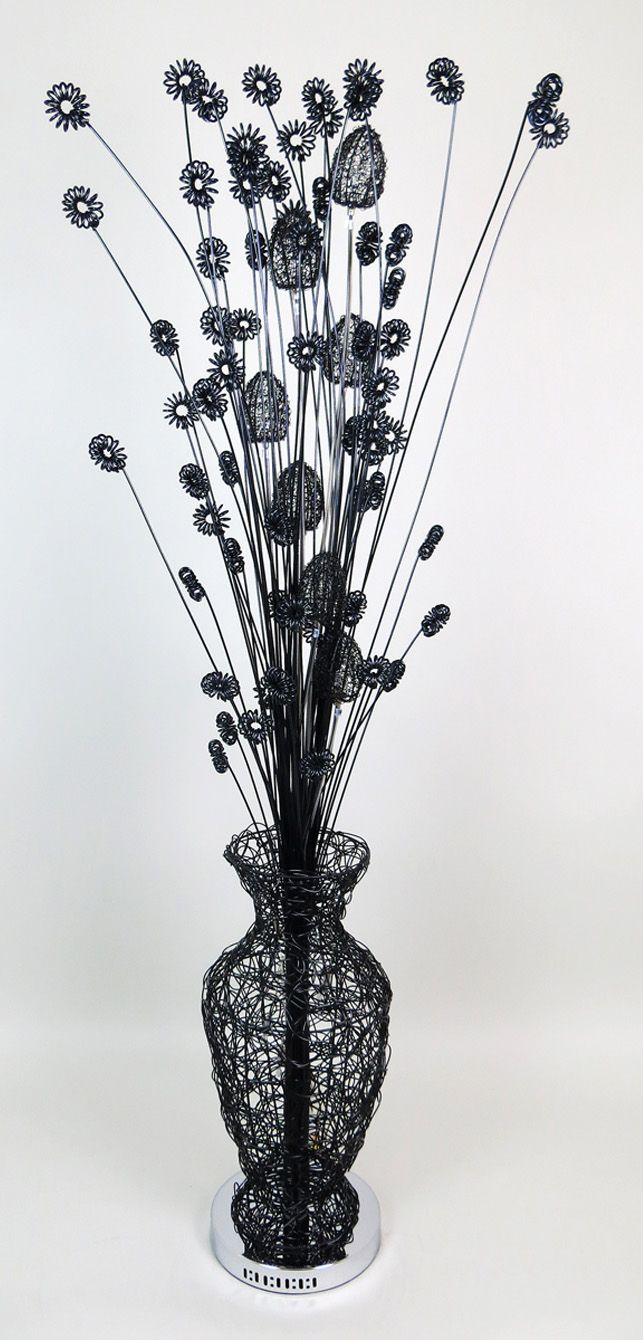 22 best black wire lamps images on pinterest black flowers flower black table lamps chandelier ideas chandeliers acorn floor lamps stems spirals bulbs vase greentooth Choice Image