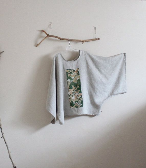 over sized pebble linen top with vintage by annyschooecoclothing