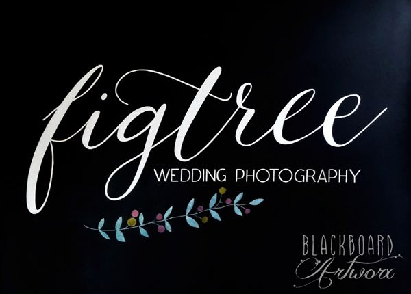 Logo sign for @Kristy Lumsden (Figtree Pictures) #logosign #eventsign #exposign #blackboardsign #chalkboardsign