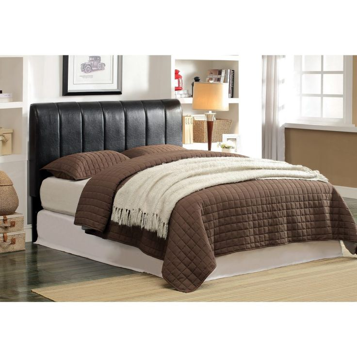 furniture bedroom black faux leather upholstered headboard combined brown bed cover and pillow cases headboards for adjustable beds