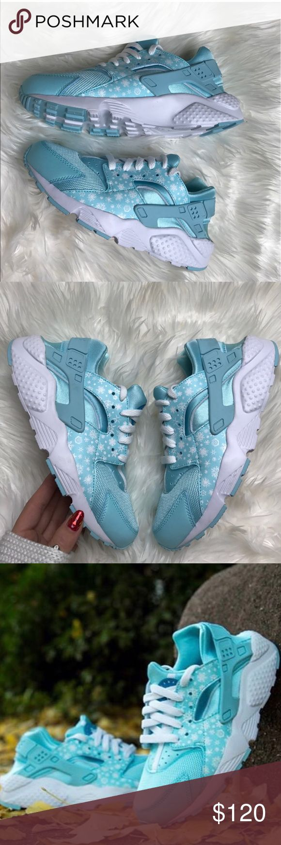 Huaraches Nike Frozen Bright Blue and White in brand new condition never worn - bought for my daughter but she never wore them Nike Shoes Sneakers