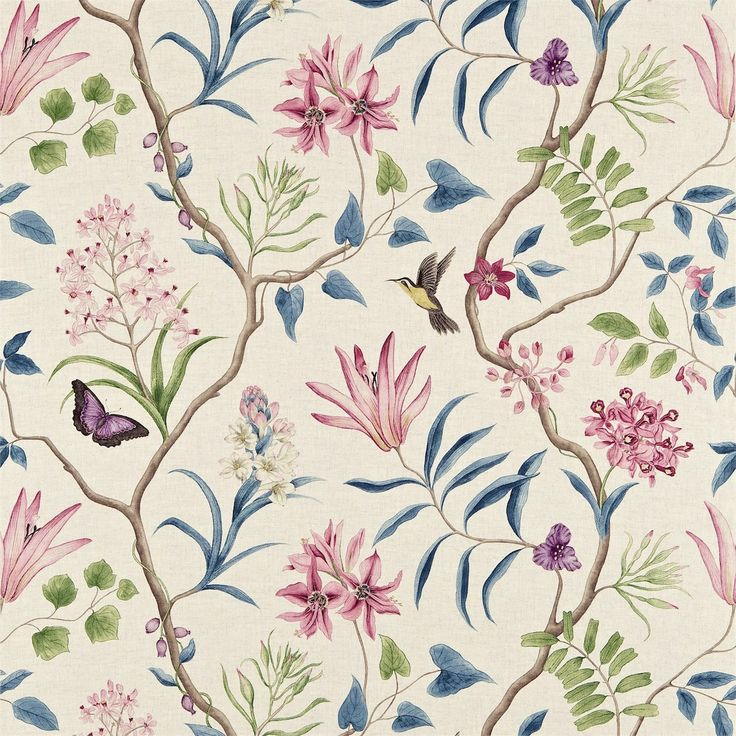 Sanderson - Traditional to contemporary, high quality designer fabrics and wallpapers | Products | British/UK Fabric and Wallpapers | Clementine (DVOY223297) | Voyage of Discovery