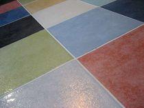 Porcelain stoneware floor tile: plain color